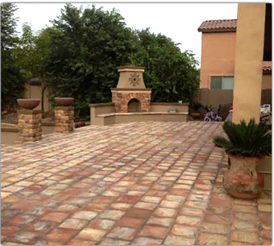 install stone paver, EH Landscaping in Apache Junction